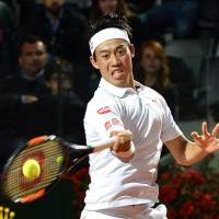 Nishikori books Rome semifinal against Djokovic
