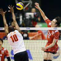 Japan spikers open tournament with victory