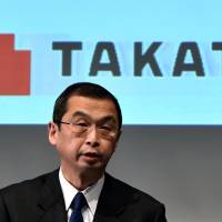 Takata chief says he'll quit after guiding air bag maker toward recovery