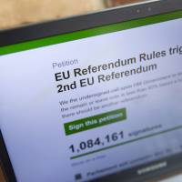 More than 3 million sign British petition for new EU referendum
