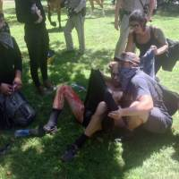 Clash between white supremacists, counterprotesters at California capitol leaves seven hurt