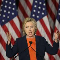 Clinton comes out swinging, says putting 'thin-skinned' Trump at the button would be 'historic mistake'