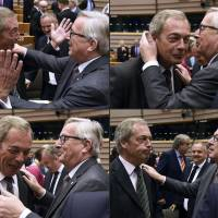'Brexiteer' Farage booed in rowdy EU Parliament debate