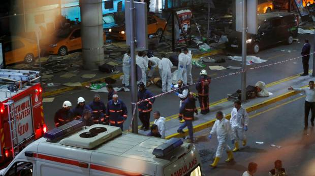 Suspected Islamic State suicide bomber trio kill at least 36 at Istanbul airport entry