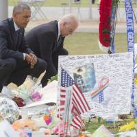 Consoler in chief: Obama visits Orlando massacre mourners as Congress gun debate showdown looms