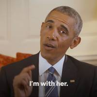 Obama backs Clinton, hears Sanders vow to join fight