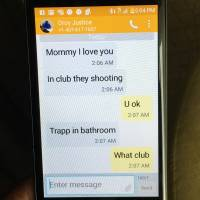Amid the Orlando shootings, a horror unfolded for one mother via text