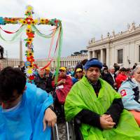 Pope denounces marginalization of handicapped people during Vatican ceremony