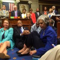 Democrats stage rare U.S. House sit-in for unlikely Republican vote on gun controls