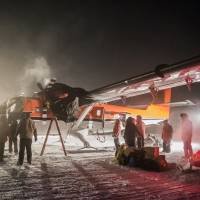 South Pole rescue flight of two sick U.S. workers arrives in Chile