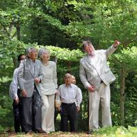 Emperor and Empress visit central Japan forest managed by British-born author C.W. Nicol