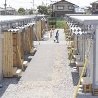 Quake-hit town in Kumamoto opens first batch of temp housing units