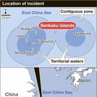 First Chinese warship to skirt Senkakus triggers protest from Tokyo