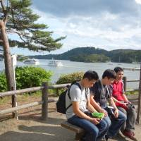 Taiwanese tourists visit Matsushima, Miyagi Prefecture, on June 17. They were undertaking a business trip to Japan. | KYODO