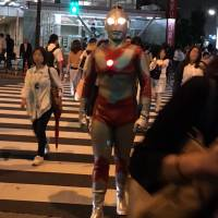 Superhero Ultraman thwarted by JR Meguro Station staff