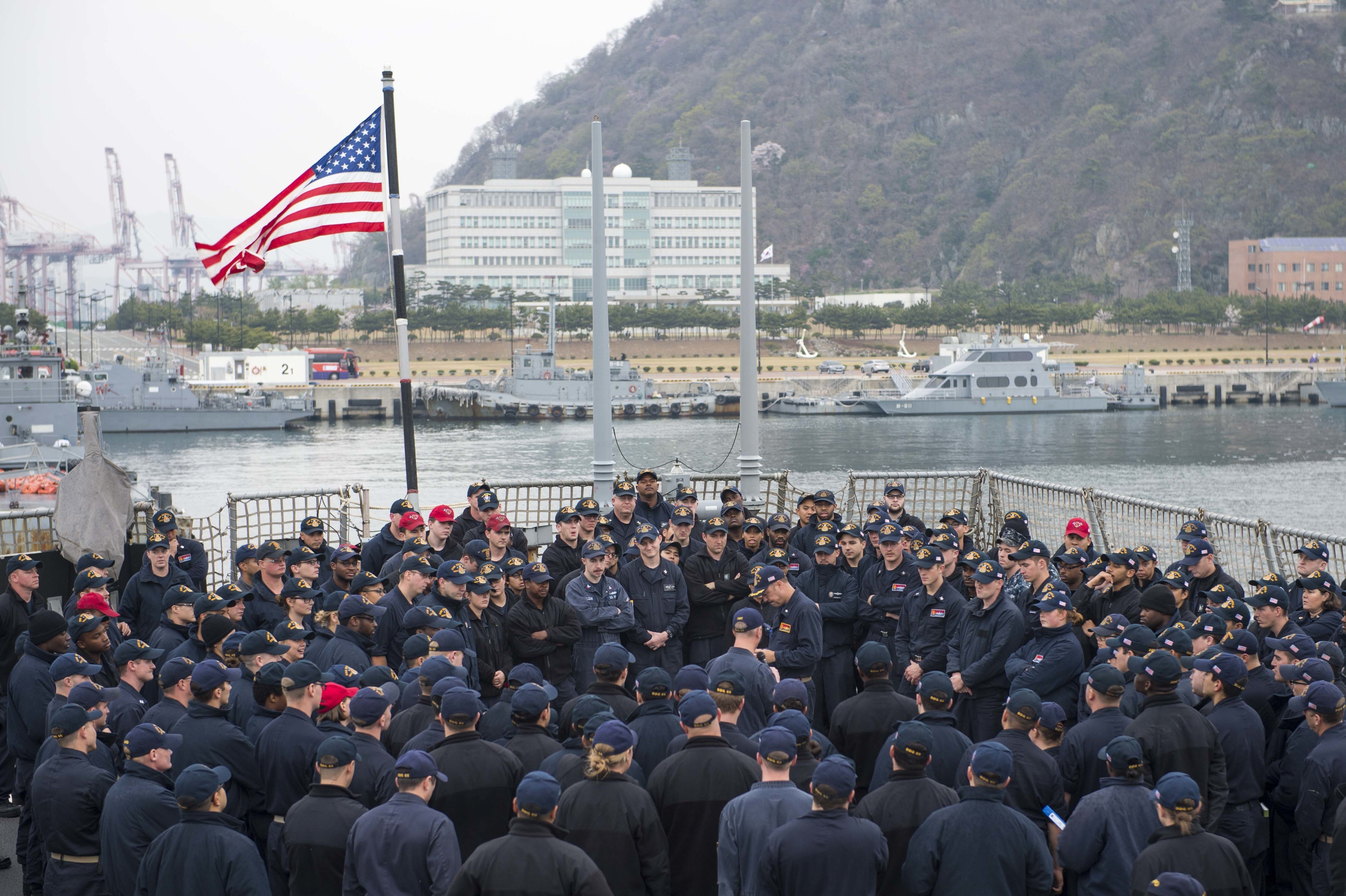 u s  navy confines sailors to bases in japan  imposes open