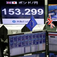 Yen leaps on referendum surprise; Nikkei tumbles