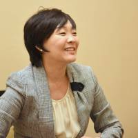 Akie Abe, the country's first lady, speaks during an interview at the prime minister's official residence in Tokyo in May. | SATOKO KAWASAKI
