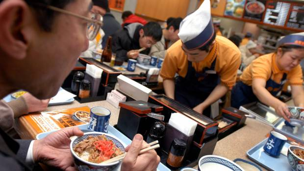 Restaurants slash prices and frills as living standard in Japan drops
