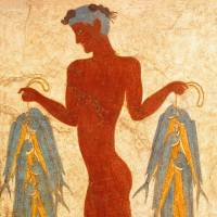 'The Fisherman Fresco from Room 5 of the West House of Akrotiri' (17th century B.C.) | MUSEUM OF PREHISTORIC THERA © THE HELLENIC MINISTRY OF CULTURE AND SPORTS-ARCHAEOLOGICAL RECEIPTS FUND