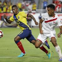 Ecuador overcomes poor start, earns draw with Peru
