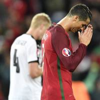 Ronaldo misses penalty in Portugal's draw with Austria