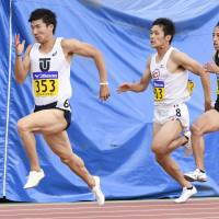 Kiryu dashes to personal-best time in 100 meters at national collegiate meet