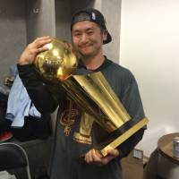 Team trainer Nakayama revels in Cavaliers' long-awaited championship