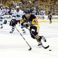 Penguins edge Sharks in overtime, take 2-0 series lead