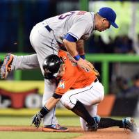 Ichiro catch helps Fernandez, Marlins edge past Mets