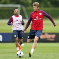 England's Eric Dier (right), seen during a recent training session, is expected to have a key role as a defensive midfielder during the European Championship. | REUTERS