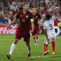 Russia snatches point from England on stormy day at Euro 2016