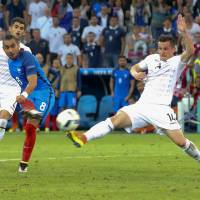 France moves into next round after victory over Albania