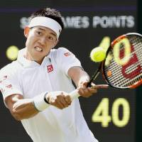 Nishikori puts away Groth in straight sets in opener