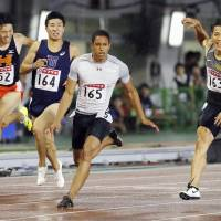 Sprinter Cambridge edges Yamagata for 100-meter title at nationals