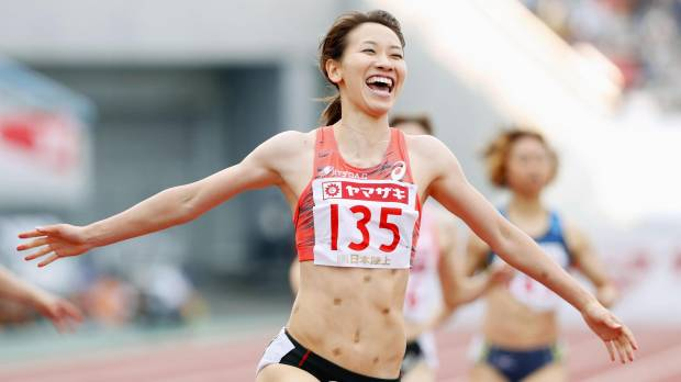 Fukushima breaks 200-meter national record to complete sprint double