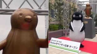 [VIDEO] Opening of Suica's Penguin Park at Shinjuku Station