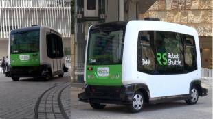 [VIDEO] Driverless bus demo at Roppongi Hills