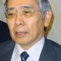 BOJ's Kuroda says to ease again if necessary to hit 2 percent price goal