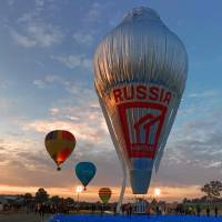 Russian breaks round-the-world balloon record