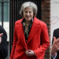 Five declare candidacies to lead U.K.'s Conservatives, pave way for Brexit in Cameron's wake