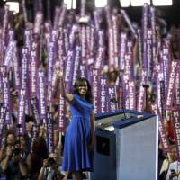 After turmoil, Sanders, Michelle Obama and Warren thrill Democrats at convention