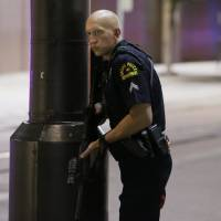 Five officers dead, seven hurt in Dallas protest shooting