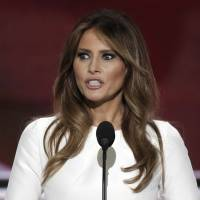 Melania Trump, wife of Republican U.S. presidential candidate Donald Trump, speaks at the Republican National Convention in Cleveland on Monday. | REUTERS
