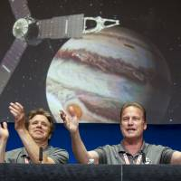 After 2.7-billion-km journey, NASA celebrates as Juno spacecraft finally gets to orbit Jupiter