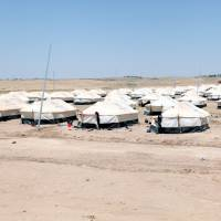 A refugee camp for displaced people who fled from Qayyara because of Islamic State violence is seen in the Makhmour area near Mosul, Iraq, Saturday. | REUTERS