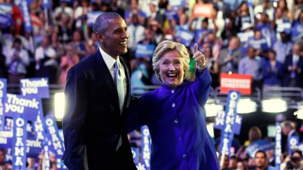 Obama boosts Clinton at convention, warns against 'deeply pessimistic' Trump