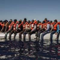 Mediterranean teams rescue 3,200 migrants, find 22 dead in bottom of dinghy
