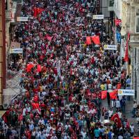 Turks protest coup; reports of torture add to government's woes