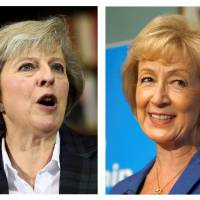 U.K. hopeful May warns of tough future after Brexit as rival Leadsom flaunts motherhood